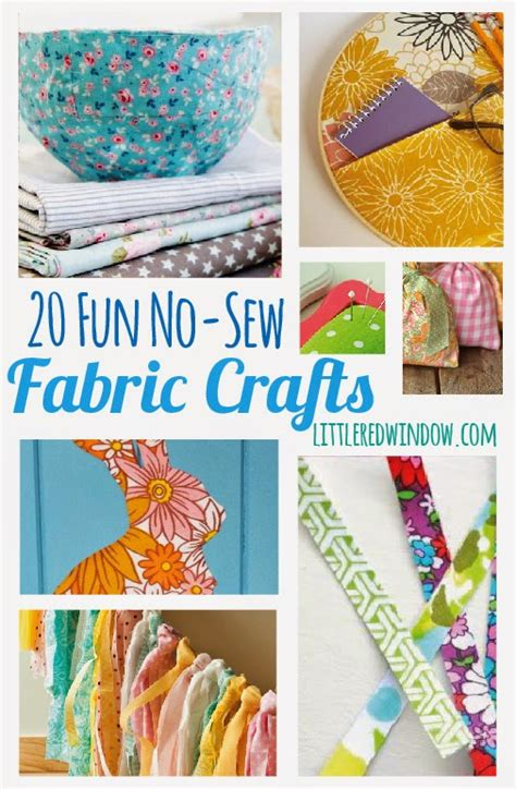 20 no sew fabric crafts diy craft projects