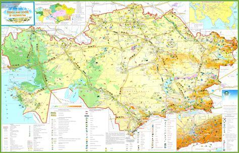 map world kazakhstan kazakhstan tourist map