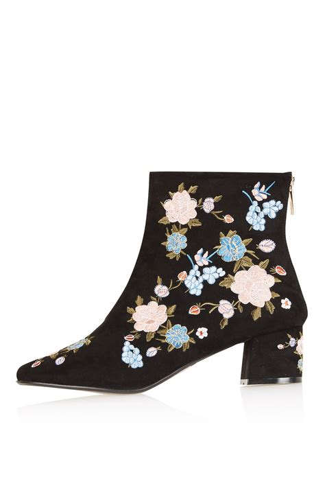 blossom floral ankle boots shoes topshop
