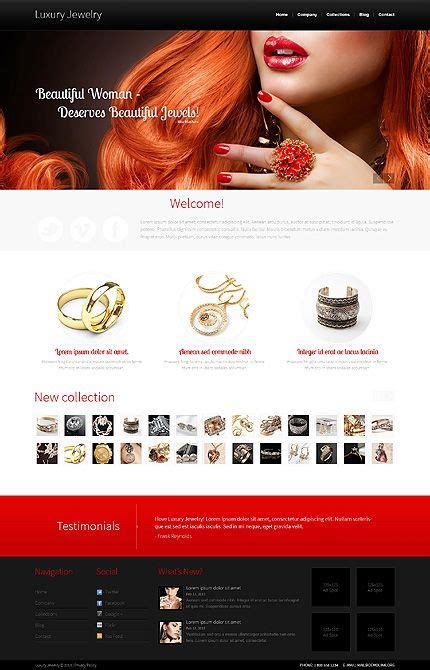 bootstrap templates for jewellery jewelry bootstrap template 44502