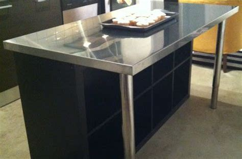 stainless steel kitchen island ikea a small but nice looking center island another ikea hack