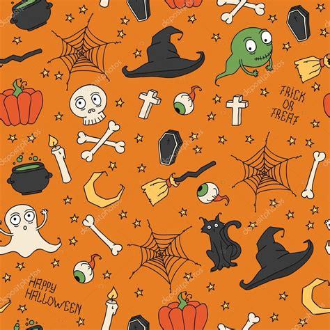 halloween pattern tumblr happy halloween seamless pattern with pumpkins skulls