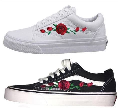 Sneakers White Flower shoes white roses 2017 sneakers white sneakers
