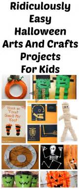 Simple Kids Halloween Crafts - 10 ridiculously easy halloween arts and crafts projects to do with kids lady and the blog
