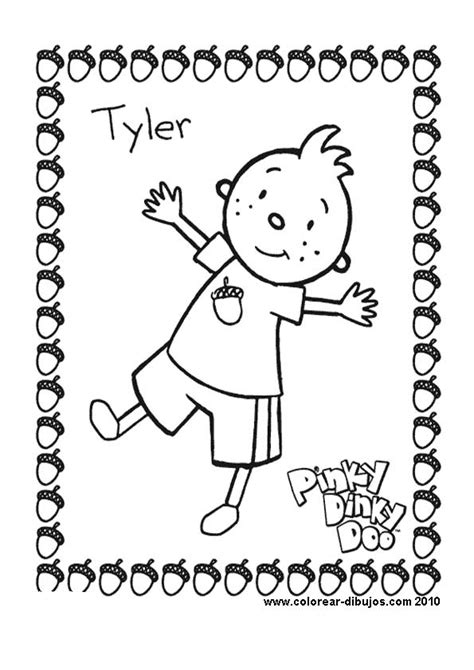 free coloring pages of pinky dinky doo