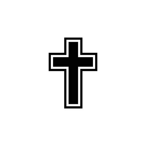 outline of a cross cliparts co