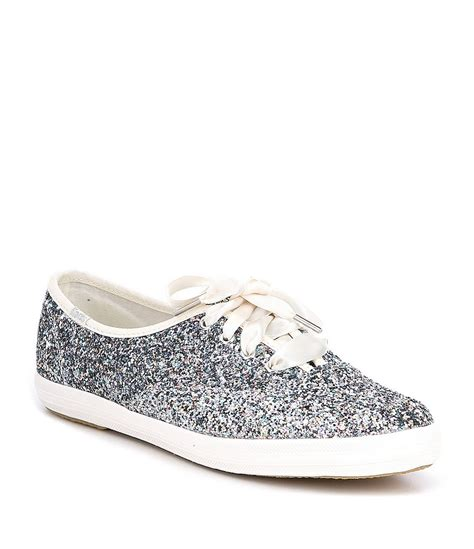 Keds Kate Spade Silver keds x kate spade new york glitter keds sneakers dillards