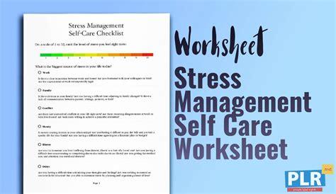 Stress Management Worksheets