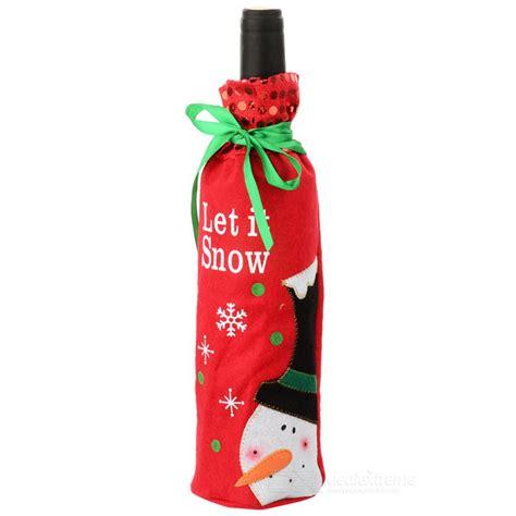 Santa Claus Wine Bag santa claus wine chagne bottle cloth bag