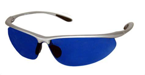 blue lens golfing golf sunglasses glasses