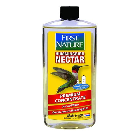 first nature 16 oz clear no stain hummingbird nectar