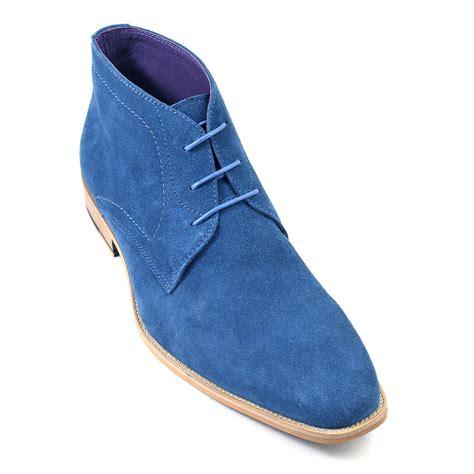 buy mens blue suede chukka boots gucinari