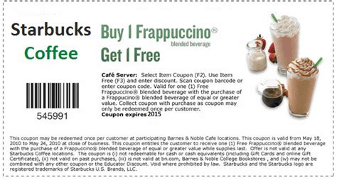 starbucks drink coupons canada