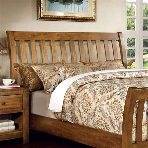 country style bed frames conrad country style rustic oak finish bed frame set 24 7 shop at home