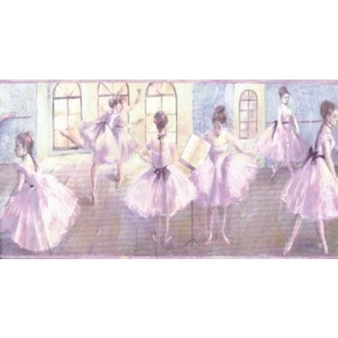 Wall Murals Ocean ballerina ballet for girls wallpaper border all 4