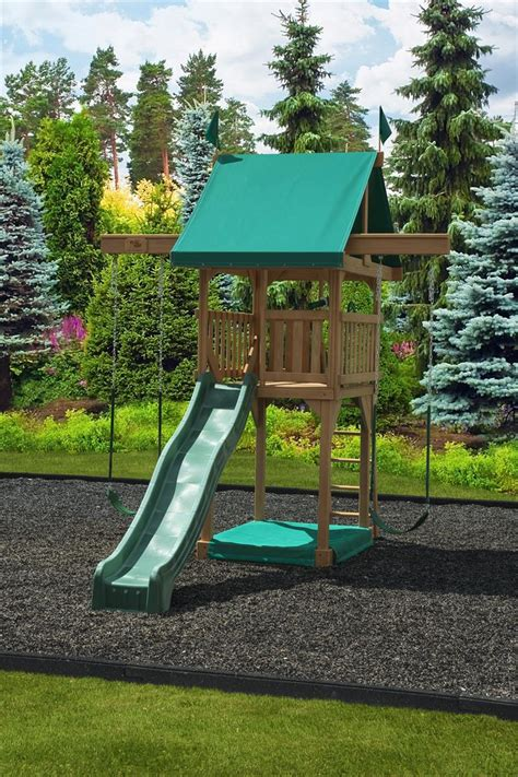 swing sets for small backyards happy space saver swing set by dutchcrafters amish furniture
