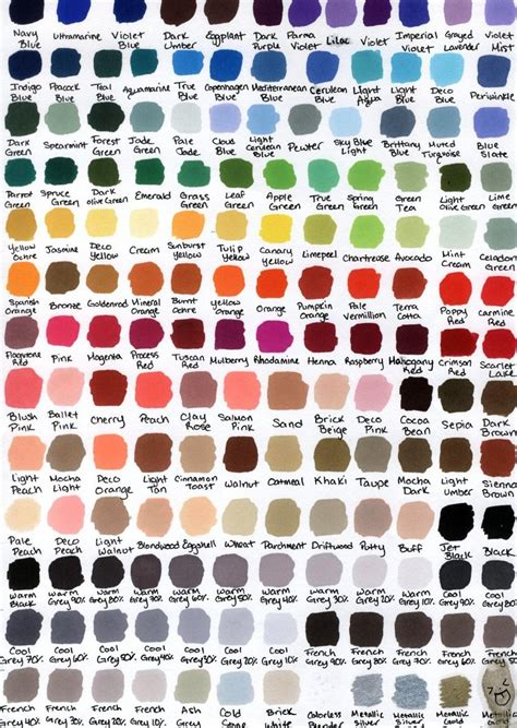 prismacolor color chart 1000 images about ref color on color theory