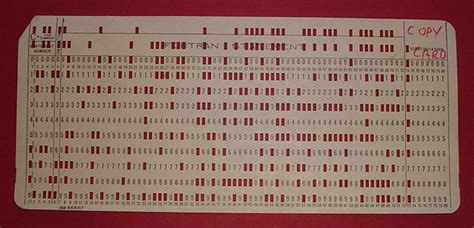 Computer Punch Card Template by From Punch Cards To Holograms A History Of Data