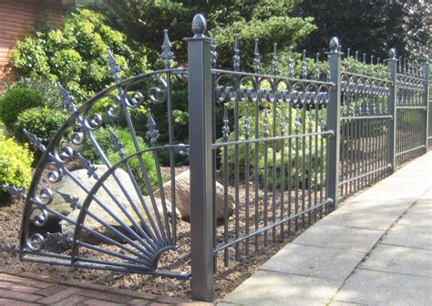 Metal Garden Fencing Ideas Antique Wrought Iron Fence Panels 171 Margarite Gardens