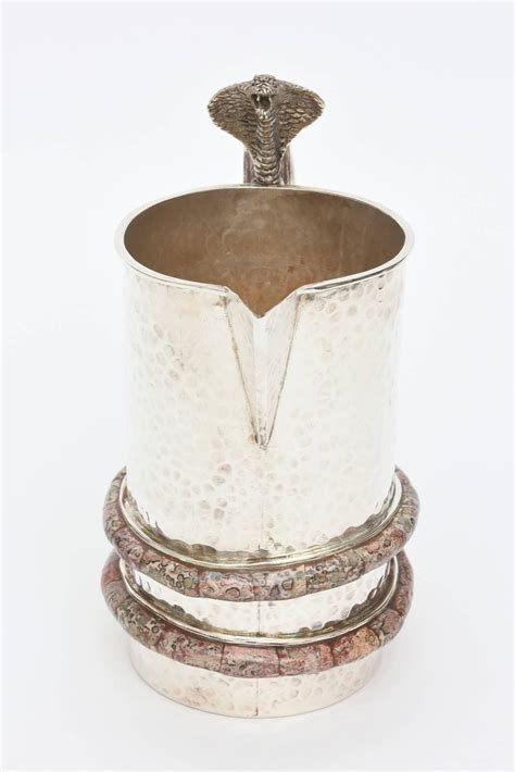 Silver Stones For Vases by Stunning Emilia Castillo Hammered Silver Plate