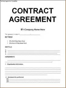contract work agreement template 5 contract agreement templatereport template document