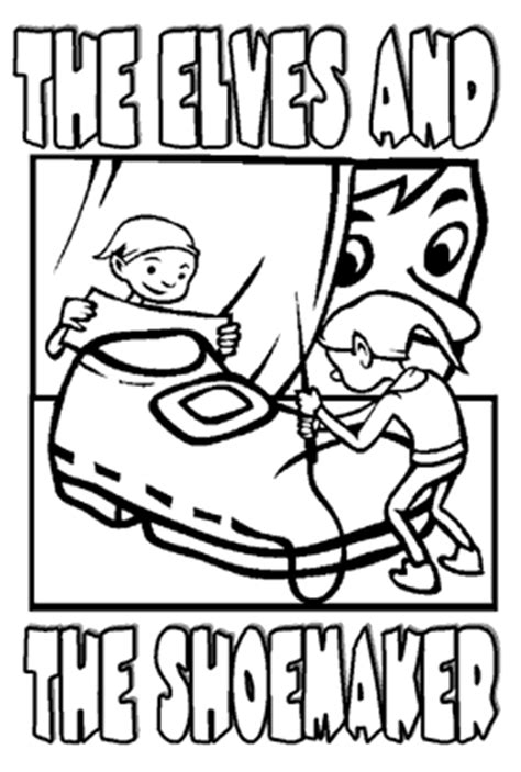 coloring page elves and the shoemaker the elves and the shoemaker coloring pages google search