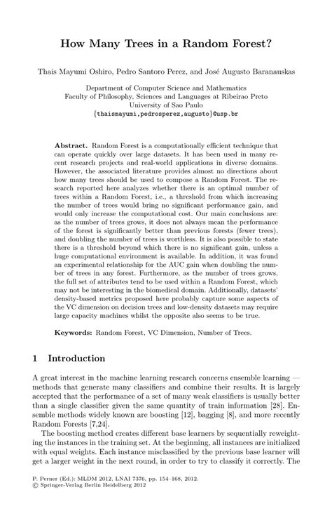 (PDF) How Many Trees in a Random Forest?