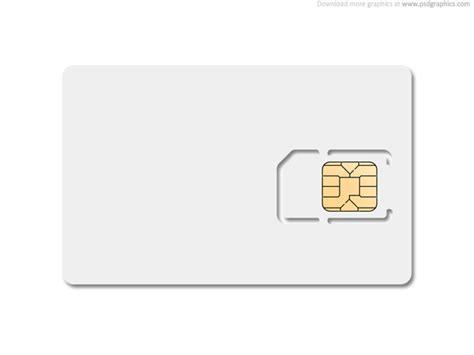 Credit Card Size Printing Template Blank Sim Card Psdgraphics