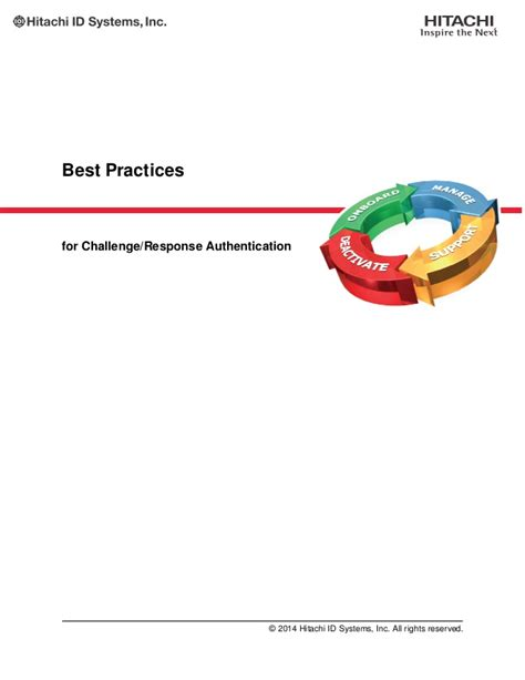 challenge response authentication best practices for challenge response authentication