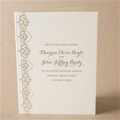 Wedding Program Book Cover by Wording And Etiquette Ideas For Wedding Programs From