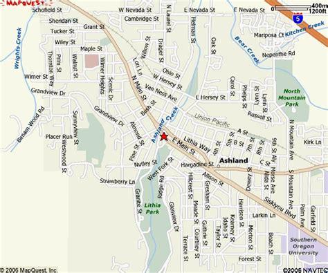 where is ashland oregon on a map location maps