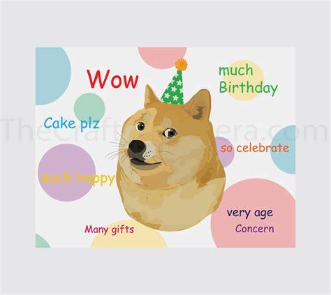 Doge Birthday Card Doge Printable Birthday Card By Thecraftychimera On Deviantart