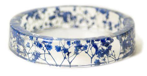 Handmade Bangles - handmade resin bangles embedded with flowers and bark