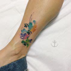 tattoo dövme printer yazici watercolor paw print tattoo tattoos by jessica kirkwood