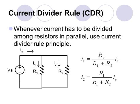 current division in parallel resistors basic electrical circuit 1 ppt