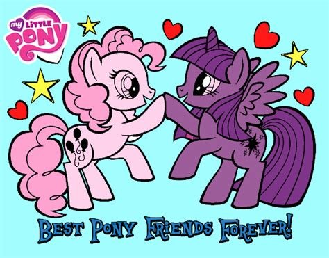 dibujo de amigas pintado por meyita en dibujos net el d 237 a dibujo de mejores pony amigas para siempre pintado por en