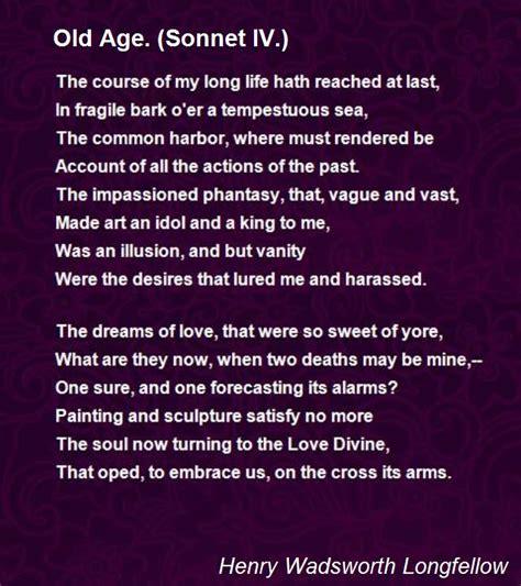 age sonnet iv poem  henry wadsworth longfellow poem hunter