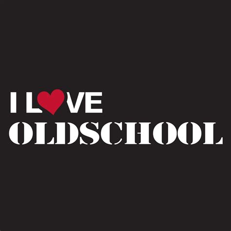 Aufkleber Old School by I Love Oldschool Sticker Iloveoldskstic Sticker Rigeshop