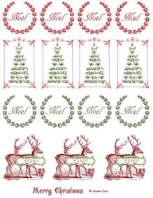 Snowflake Wall Stickers printable vintage christmas stickers the graphics fairy