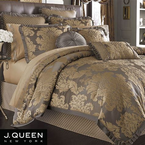 bedding queen melbourne damask comforter bedding by j queen new york