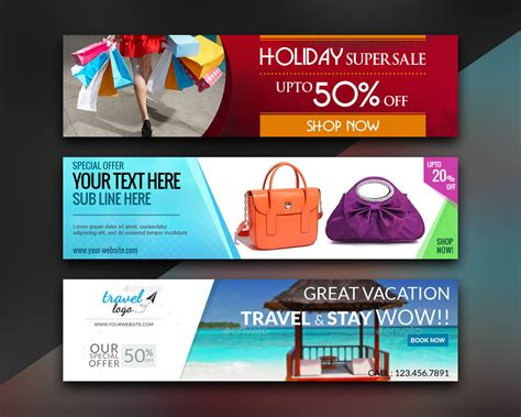 design banner online website web banner and ad banner design by xhtmlcut on envato studio