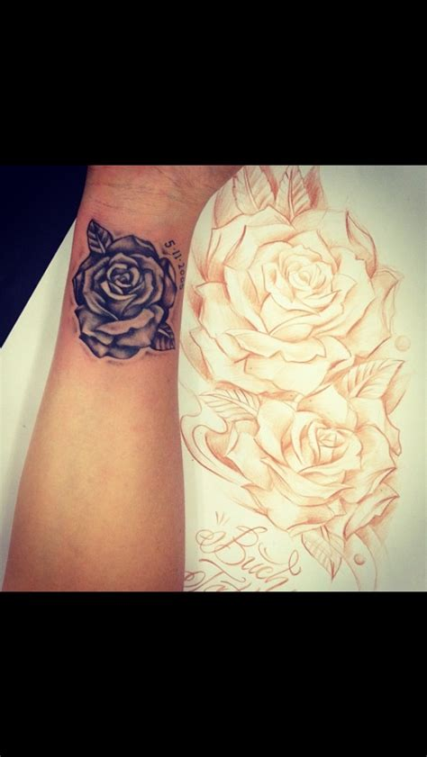 rose tattoo up side my wrist wedding anniversary tattoos