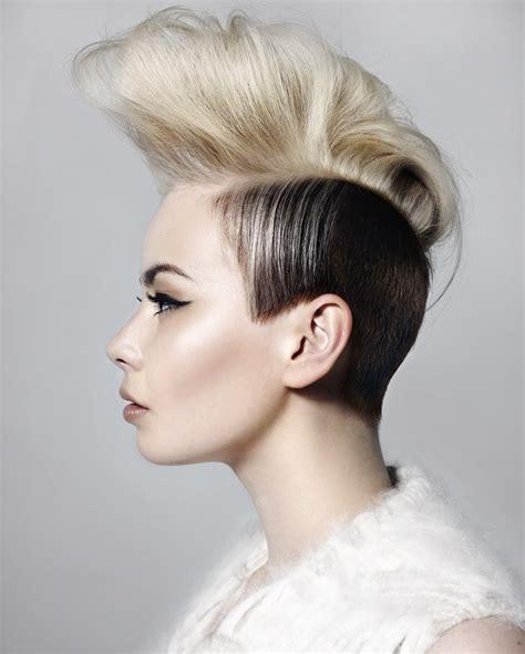 fashion mohawk hairstyle fade haircut