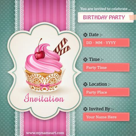 How To Make A Birthday Card Invitation On The Computer