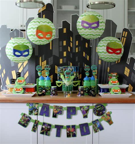 teenage mutant ninja turtles table and craft that party teenage mutant ninja turtle movie party