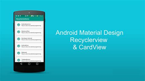 android material design layout shadow android recyclerview tutorial recyclerview and cardview