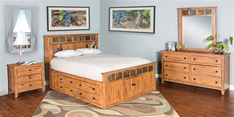 rustic bedroom suites sedona rustic petite storage bedroom suite e king size