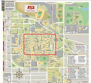 arizona state cus map map of asu