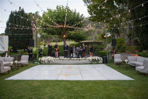 backyard dance floor reception d 233 cor photos outdoor dance floor under strings