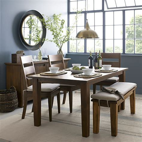 basque honey 65 quot dining table crate and barrel chairs